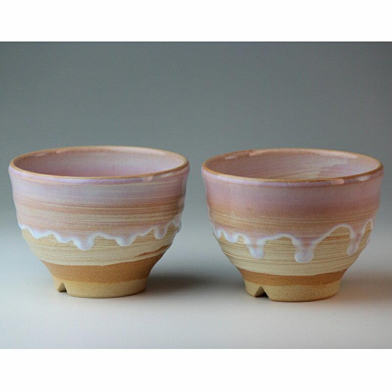 萩焼 しずく 碗ペア(化粧箱) Hagi yaki Hagi Shizuku 2 bowls made in Japan. Japanese pottery. Free shipping.
