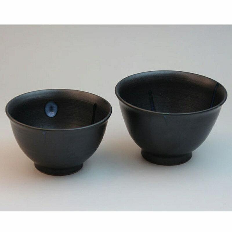 萩焼 白釉流掛飯碗揃 木箱入 船崎透作 Japanese ceramic Hagi-ware. Meshiwan bowl made by Toru Funasaki.