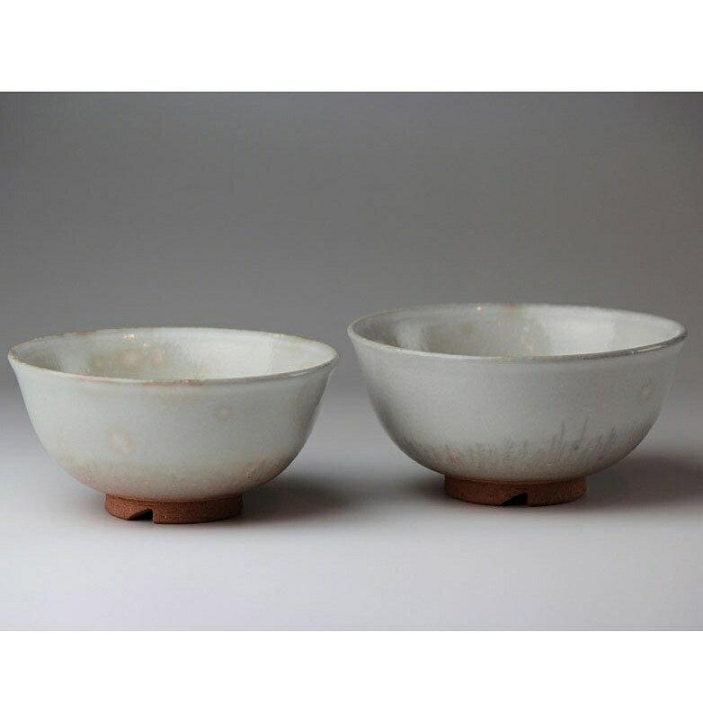 萩焼 銀灰組飯碗(化粧箱) Hagi yaki Ginhai 2 bowls made in Japan. Japanese pottery. Free shipping.