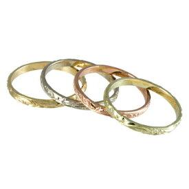 ハワイアンジュエリー リング 14K ゴールド Laule'a ラウレア オーダーメイド レディース 女性 メンズ 男性 指輪 ハワジュ バレルリング2mm幅 OGR001-2mm