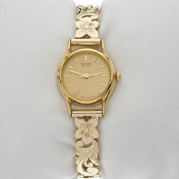 【ハワイアンジュエリー】【腕時計】【ゴールド】14Kブレスレットウォッチ