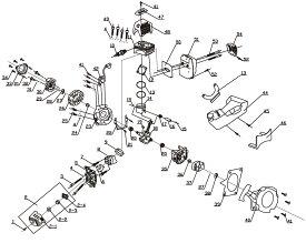 穴掘り機 エンジンオーガー DZ49・50用 リコイルスターター HG-DZ4950-P40【パーツ エンジンドリル アースオーガー 穴掘り機 穴掘り器 0113flash 16 】