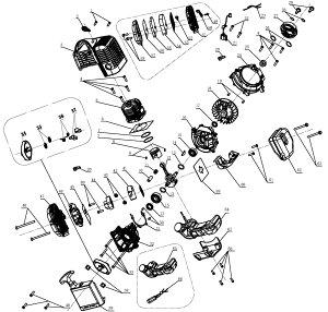 穴掘り機 エンジンオーガー DR(DZ)71用 イグニッションコイル HG-DZ71-P21【パーツ エンジンドリル アースオーガー 穴掘り機 穴掘り器 0113flash 16 】