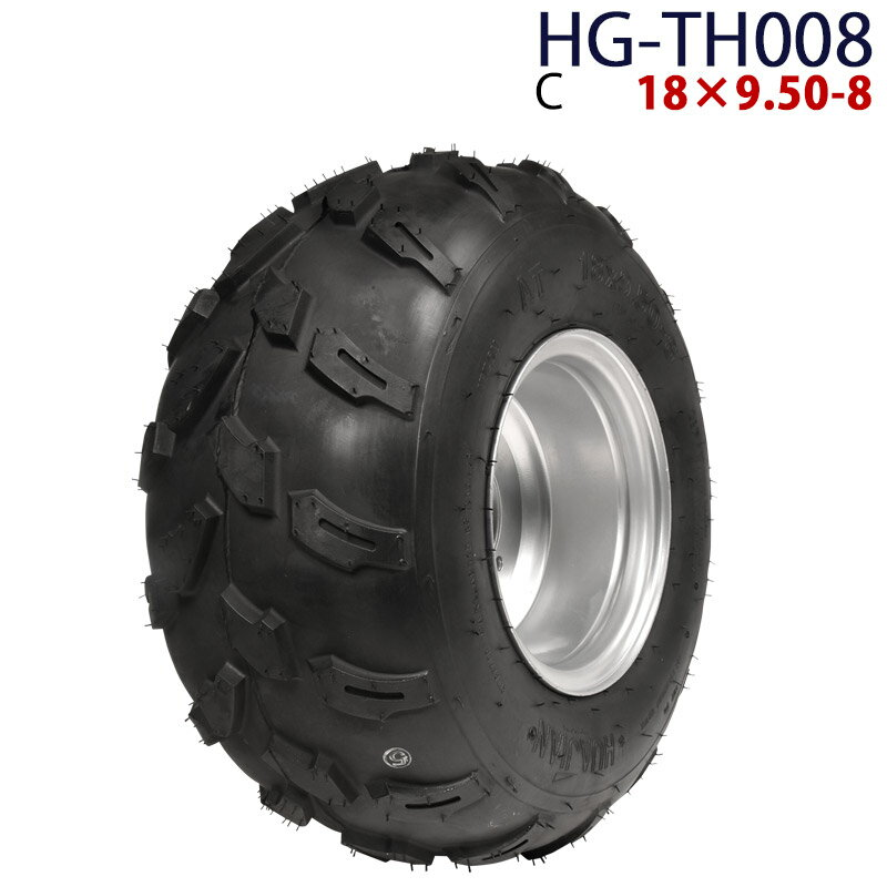 四輪バギー ATV ホイール付タイヤ 8インチ 18×9.50-8 HG-TH008 ハイガー産業 C※ 0113flash 16 +