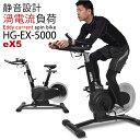 渦電流 スピンバイク eX5 エアロ フィットネス バイク HG-EX-5000 無音 静音 トレーニングバイク エアロ バイク ビク…