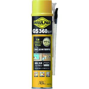 エービーシー商会:ABC 簡易型発泡ウレタンフォーム 1液ノズルタイプ インサルパック GS360ロング 570g フォーム色:クリーム GS360-L 型式:GS360-L