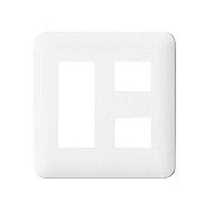 パナソニック:コスモシリーズワイド21 コンセントプレートラウンド(2連用/5個用)利休色 型式:WTF7005G