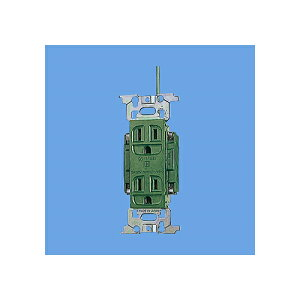 パナソニック:フルカラー医用アース付ダブルコンセント(緑) 型式:WN1318GK