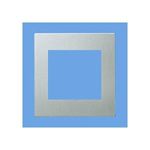 パナソニック:ラフィーネアシリーズ コンセントプレート(スクエア)2連接穴プレート(ウォームシルバー) 型式:WTX8500S