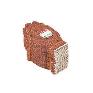 おたふく手袋:化合繊維軍手 茶ナイロン 型式:614