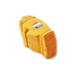おたふく手袋:化合繊維軍手 黄ナイロン 型式:611