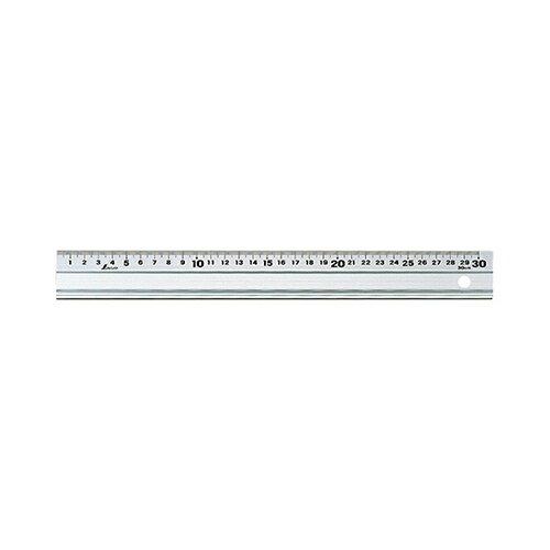 シンワ測定:アルミ直尺アル助 スベリ止付 300mm 型式:#65331