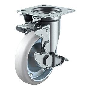 ユーエイ:Jシリーズ JK-S型 自在車(旋回固定式)プレート式(ストッパー付) 型式:WOJK-150S