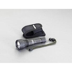 エスコ:[CR123Ax2本]フラッシュライト/LED(防水・黒 型式:EA758RM-81