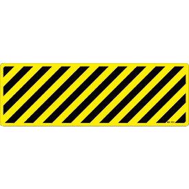 緑十字 路面標示ステッカー 黄/黒(トラ柄) 路面−605D 200×600mm 滑り止めタイプ ( 101155 ) (株)日本緑十字社