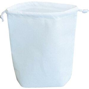 トラスコ(TRUSCO) 不織布巾着袋 B5サイズ マチあり ホワイト 10枚入 HSB5-10-W ( HSB510W ) トラスコ中山(株)