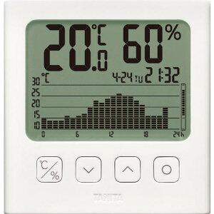 TANITA グラフ付きデジタル温湿度計 白色 TT-581 ( TT581 ) (株)タニタ