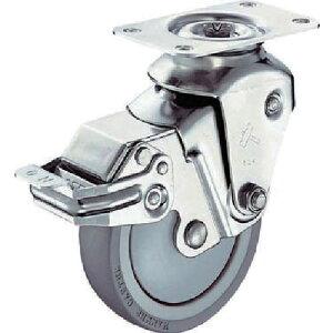 ハンマー クッションキャスター旋回式ウレタン車輪 100mm 線径2.6mm SP付 935BBE-UZ100-26-BAR01 ( 935BBEUZ10026BAR01 ) ハンマーキャスター(株)