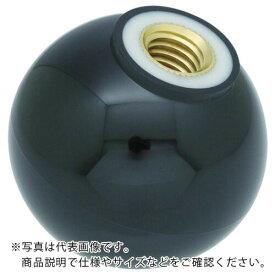 トラスコ(TRUSCO) 樹脂製握り玉 芯金付 黒 Φ20XM6mm P-TPC20-6BK ( PTPC206BK ) トラスコ中山(株)