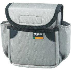 トラスコ(TRUSCO) 小型腰袋 二段フタ付 グレー TC-52GY ( TC52GY ) トラスコ中山(株)