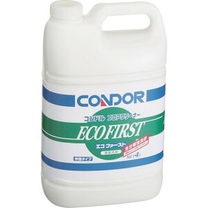 コンドル 床用洗剤 フロアクリーナー「エコファースト」 4L CH525-04LX-MB ( CH52504LXMB ) 山崎産業(株)