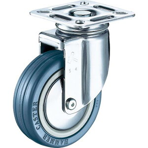 ハンマー 旋回式ゴム車輪(ナイロンホイール・ボールベアリング)100mm 920M-RB100-BAR01 ( 920MRB100BAR01 ) ハンマーキャスター(株)