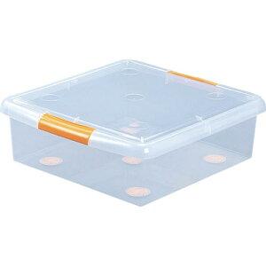 IRIS 222042 薄型ボックス  クリア/オレンジ UG-475 ( UG475 ) アイリスオーヤマ(株)