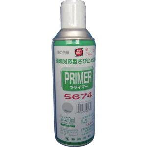 シントー プライマー5674スプレー N−8グレー ( 9972639 ) シントーファミリー(株)