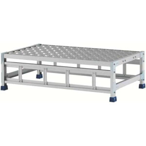 アルインコ 作業台(天板縞板タイプ)1段 天板寸法1000×600mm高0.3m CSBC131WS ( CSBC131WS ) アルインコ(株)住宅機器事業部
