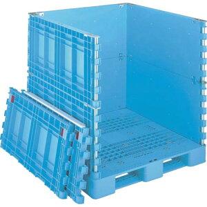 リス パレットボックスBJB−S・1111X115上下一面扉11 ブルー BJB-S 1111X115-UDS11 ( BJBS1111X115UDS11 ) 岐阜プラスチック工業(株)