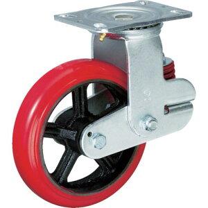 イノアック バネ付き牽引車輪(ウレタン車輪タイプ 自在金具付 Φ200) KTU-200WJ-YS ( KTU200WJYS ) (株)イノアック車輪