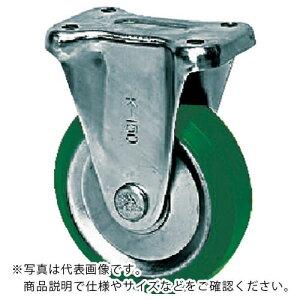 シシク スタンダードプレスキャスター ウレタン車輪 固定 100径 UWK-100 ( UWK100 ) シシクSISIKUアドクライス(株)