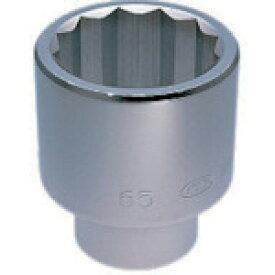 京都機械工具(株) KTC 25.4sq.ソケット(十二角)77mm B5077 (3448134)