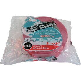 オカモト(株)粘着製品部 オカモト クラフトテープ環境思いカラー赤 224WC5050R 3826830