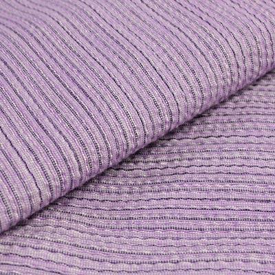 阿波しじら織り 木綿 着物 単衣きもの《仕立代込み》淡い藤紫に細縦縞 No.H4 【受注生産】【送料無料】