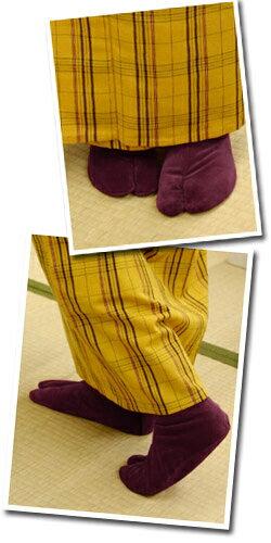 別珍足袋あったかい冬用足袋カラー色足袋無地ネル裏べっちん足袋(6色)〔21.0cm〜24.5cm〕【メール便OK】