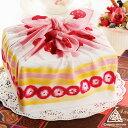 《ASAYAMA MISATO 浅山美里》包むと苺たっぷりショートケーキに変身♪綿100% ハンカチーフ風呂敷つつみ ショートケーキ(50cm)【メール便OK】