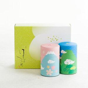 【送料無料】静岡茶 緑茶ギフト100g×2缶 静岡県産 高級 煎茶 牧之原茶 深蒸し 深むし 茶葉 お取り寄せ ギフト 贈り物 お中元 日本茶 国産 安心のメーカー直送