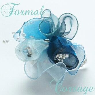新作品豪华的形式上的装饰花花蓝色青淡蓝色O甘地日本制造毕业式毕业典礼婚礼入学仪式入园式05P03Dec16
