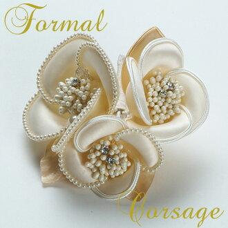 正式的茶花胸針珍珠胸花在日本婚禮聚會畢業畢業典禮入口儀式象牙米色白色查 f 規則