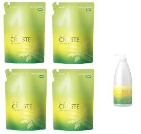 クラシエ ヘアクリエステ ボタニカル シャンプー詰替(500ml)×4個詰替え用ボトル1個付き