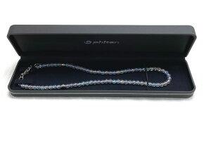 【送料無料】 ファイテンチタン水晶ネックレス (+5cmアジャスター)5mm玉 40cm