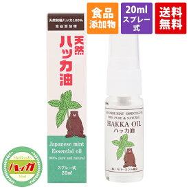【食品添加物】ハッカ油 スプレー 20ml ペパーミント商会【天然和種ハッカ100%】【虫除け・消臭・除菌効果】