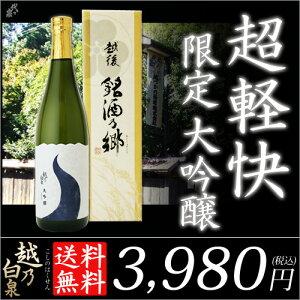 お歳暮 送料無料 ギフト 日本酒 日本酒 大吟醸 越乃...