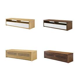 2タイプから選ぶ無垢材のTVボード木製 ナラ(オーク),ウォールナット 北欧/テレビ台/AVボード/TVキャビネット/テレビキャビネット,完成品,GREEN/YUZU/ROSEMARY