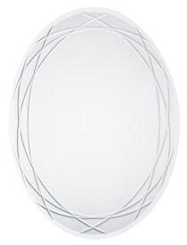 ◎ウォールミラー 45x60cm楕円形(飛散防止フィルム付)【SUC-003】