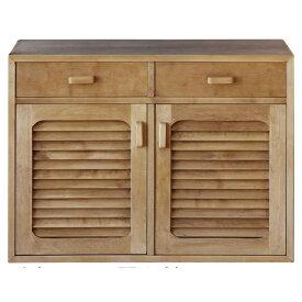 キャビネット/リビング収納/戸棚 バーチ無垢材 幅86cm 同シリーズのパーツと組み合わせてお好みの家具に「BONBON(ボンボン)」w86 cabinet[送料無料]