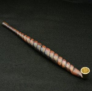 (送料無料)銅はがれ手綱煙管(きせる)キセル(日本の伝統的な喫煙パイプ、喫煙グッズ)