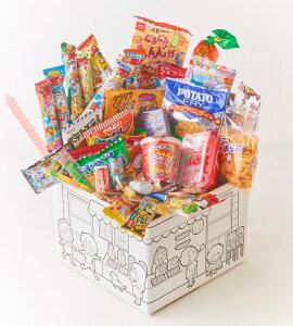駄菓子 詰め合わせ 72点 お菓子セット 大人 子供 お菓子詰め合わせセット 箱にぬりえをしよう! だがしかし ポテフ ペペロンチーノ おやつカルパス ぐるぐるもんじゃ ビッグカツ タラタラし