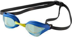 arena(アリーナ) 水泳 ゴーグル・サングラス くもり止めスイミンググラス クッションタイプ(ミラー加工) 【イエロー×ブルー】 メンズ・レディース・ユニセックス AGL240M YBBY 20FW {SK}